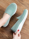 媽媽鞋 2021春夏新款老北京布鞋女一腳蹬休閒百搭舒適軟底中老年媽媽單鞋
