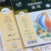 素顏本 法國康頌canson素描本素描紙8K速寫本16K彩鉛本繪畫本彩鉛紙 160g igo辛瑞拉