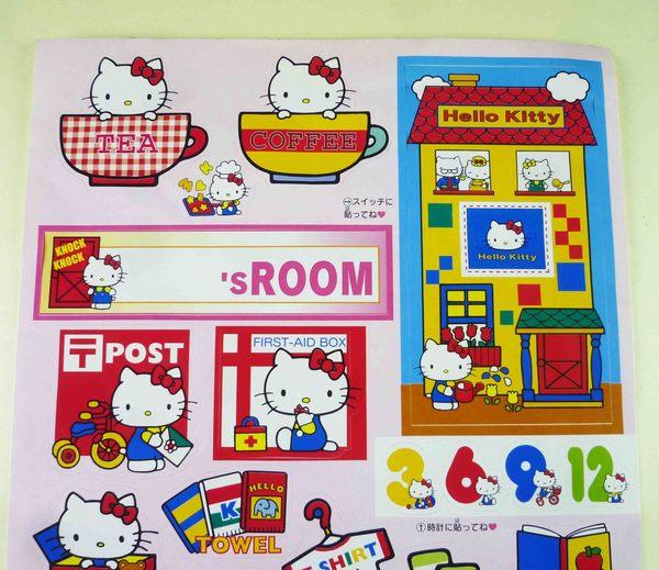【震撼精品百貨】Hello Kitty 凱蒂貓~貼紙-咖啡杯