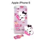 Hello Kitty 拭鏡貼透明軟殼 [甜點粉] iPhone 6 / 6S (4.7吋)【三麗鷗正版授權】
