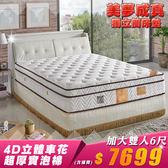 【IKHOUSE】美夢成真獨立筒床墊-超厚實30公分高頂級床墊-4D立體車工-雙人加大6尺下標區
