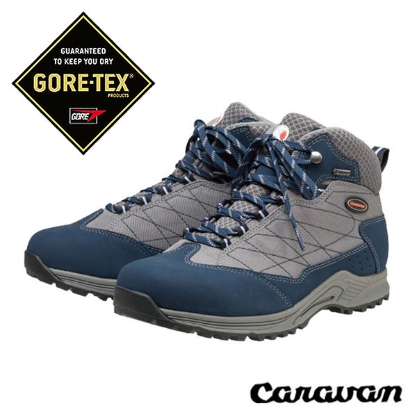 日本 Caravan C1_HIKE 超輕 寬楦 GORE-TEX中性中筒登山健行鞋『海軍藍』0010110 登山鞋