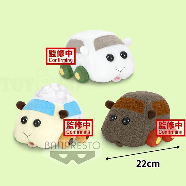 10月預收 免運 玩具e哥 景品 天竺鼠車車 暖心療癒絨毛布偶 3款一套 西羅摩 阿比 泰迪 代理18018