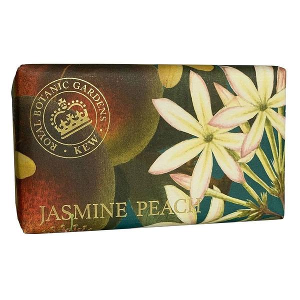岡山戀香水~Kew Gardens 英國皇家植物園 乳木果油天然香皂 240g (茉莉花與蜜桃) ~優惠價:299元