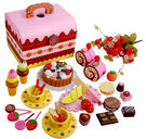 [Mother Garden]草莓生日蛋糕/兒童扮家家/扮家家酒木質木製玩具/切切看