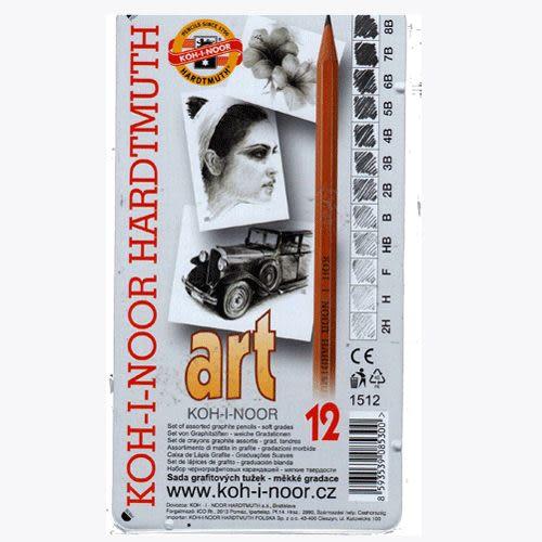 捷克製KOH-I-NOR 原木(柳木製)2H_8B鉛筆