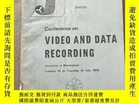 二手書博民逛書店conference罕見on video and data recording(P2848)Y173412