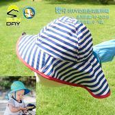 [開發票 美國 Sunday Afternoons ]  嬰兒 抗UV防潑透氣護頸帽 海軍藍白條紋; 蝴蝶魚戶外