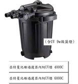 台中水族} 亞特曼 池塘/魚池過濾器 內附UV殺菌燈-(5000--8000L/H) -不含馬達     特價