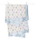 【美國 Little Giraffe】嬰兒被 頂級攜帶毯 - 豪華彩色點點嬰兒毯(藍色款)  LXDBKTBL