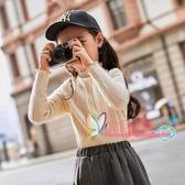 兒童毛衣女 女童毛衣2019新款秋裝韓版洋氣套頭高領大童兒童裝秋款針織打底衫 3色