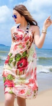 [協貿國際]  夏季防曬披肩沙灘巾 (1入)