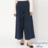 「Hot item」俐落剪裁後鬆緊素面寬褲 - Sm2 BLUE