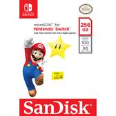 [哈GAME族]免運費●官方授權●SanDisk 任天堂 Nintendo SWITCH 專用 U3 microSDXC 256G 記憶卡 星星黃卡