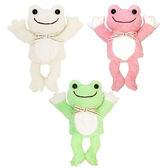 NAKAJIMA 療傷系青蛙絨毛 手偶 手控 玩具 傀儡 親子玩偶 娃娃 共三色 日本進口正版 078575