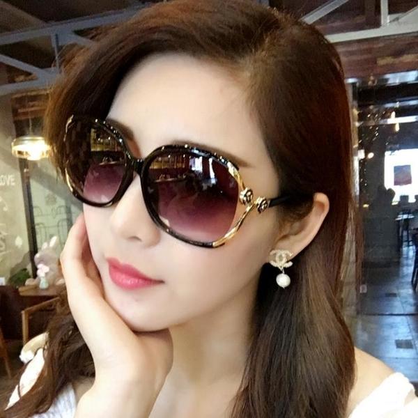 太陽鏡 太陽鏡女潮明星款圓臉長臉優雅個性舒適前衛 墨鏡女方臉韓版