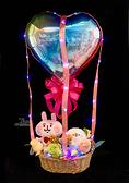 6吋卡娜赫拉格紋蝴蝶結幸福熱氣球,金莎花束/情人節禮物/婚禮佈置/派對慶生,節慶王【Y292561】