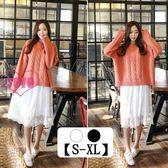 YoYo 蕾絲花邊網紗長裙 內搭裙(2色 S-XL)F1010