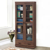 書櫃《YoStyle》尚恩2.7尺下抽書櫃-胡桃 收納櫃  置物櫃 展示櫃 免運專人配送