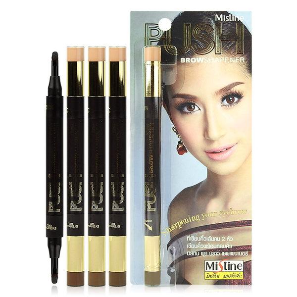泰國 Mistine PUSH雙頭眉筆(1.2g+1.2g) 遮瑕/眉膠/多色可選 ◆86小舖◆