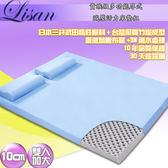 Lisan10公分高規格厚式減壓活力床墊組-雙色可選—雙人加大 賣點購物
