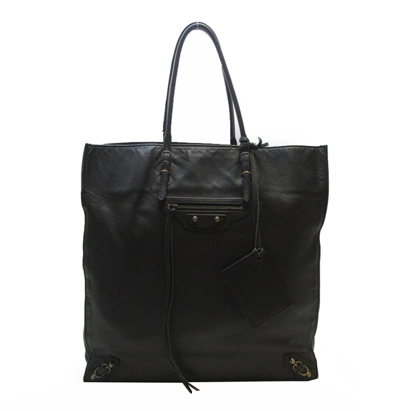 BALENCIAGA 巴黎世家 黑色羊皮肩背包 Papier Ledger Zip Around 259572 【BRAND OFF】