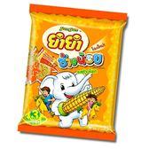 泰國【 YUM YUM CHANG NOI 小象麵--玉米風味 一袋6包(橘) 132g】A22