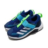 adidas 慢跑鞋 4uture Sport AC K 藍 白 女鞋 中童鞋 大童鞋 魔鬼氈 運動鞋 【ACS】 FV3708