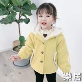 女童外套 加絨2019新款秋冬季小童加厚兒童女寶寶冬裝棉衣洋氣公主【快速出貨】