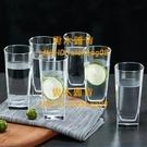 【6只】啤酒杯玻璃杯套裝家用客廳耐熱牛奶果汁泡茶杯【雲木雜貨】