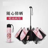 雨傘 防曬防紫外線遮陽傘女太陽傘兩用晴雨傘折疊 BF7228【旅行者】