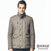 【ST.MALO】經典名品限量羊駝男外套-1611MJ-中灰色
