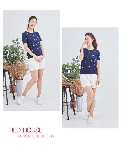 Red House 蕾赫斯-小花針織衫(共2色)