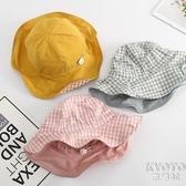 嬰兒帽子春秋薄款可愛女寶寶漁夫帽女童遮陽帽兒童防曬帽太陽帽夏 京都3C
