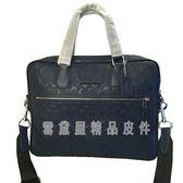 ~雪黛屋~COACH 公事包大容量可A4資料夾國際正版保證進口防水防刮皮革品證購證塵套提袋C717521