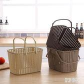 簡約購物籃超市便利店手提籃水果籃子野餐籃菜籃子手提洗澡籃塑料xy2469『東京潮流』