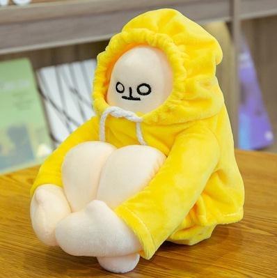 自閉蹲香蕉人公仔小人利路修娃娃毛絨玩具玩偶治愈繫生日禮物孤獨 童趣屋 免運