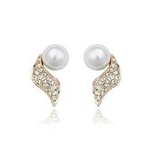 耳環 玫瑰金 925純銀鑲鑽-唯美氣質生日情人節禮物女飾品2色73gs109【時尚巴黎】
