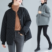 外套 秋冬洋氣胖mm顯瘦寬鬆百搭休閒減齡遮肚時尚短款棉服棒球棉衣外套