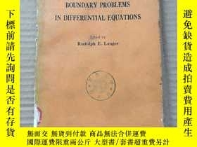 二手書博民逛書店boundary罕見problems in differential equations(P770)Y1734