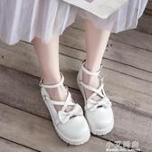 娃娃鞋 原創蝴蝶結洛麗塔lolita大頭娃娃鞋森女學院風學生軟妹平底小皮鞋【小艾新品】