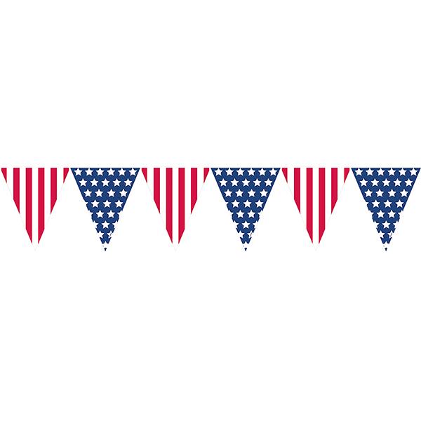 三角旗-美國國旗
