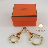 【雪曼國際精品】Hermes 愛馬仕 金色絲巾釦環~二手商品9.5成新