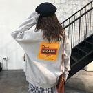 (全一件免運)DE SHOP~(T-9009)怪味少女上衣韓版長袖套頭原宿刷毛學生長袖上衣