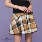 愛心口袋造型格紋短裙 【AF2110】
