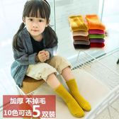 兒童珊瑚絨襪子中筒睡眠堆堆襪糖果色潮襪不掉毛男女童1-3-6-10歲