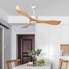 簡約北歐電風扇客廳吊扇無燈餐廳臥室DC變頻電機110V風扇 樂活生活館