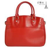 【巴黎站二手名牌專賣店】*現貨*LV 路易威登 真品*限量款Passy PM Epi 水波紋手提包(紅色)