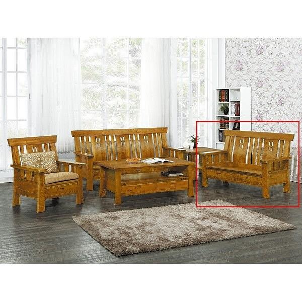 沙發組 CV-302-9 四孔柚木雙人椅 (不含大小茶几) (不含坐墊) (可拆賣)【大眾家居舘】