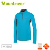 【Mountneer 山林 男 透氣排汗長袖上衣《水藍》】31P31/立領長袖/休閒衫/防曬長袖/快乾抗臭